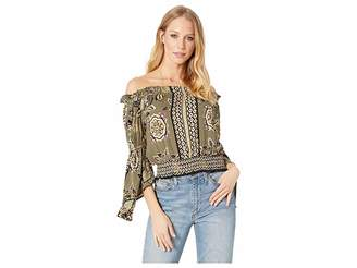 Angie Embellished Long Sleeve Top Women's Clothing