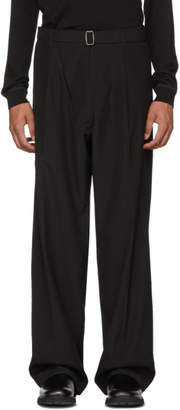 MACKINTOSH 0002 Black Belted Wide-Leg Trousers