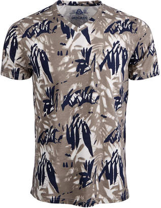 American Rag Men's Tropical V-Neck T-Shirt