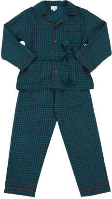 Loretta Caponi Wool Flannel Pajama Set