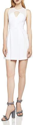 BCBGeneration Sleeveless Peek-a-Boo Fit-and-Flare Dress