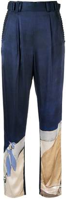 Aje Chiltern satin trousers