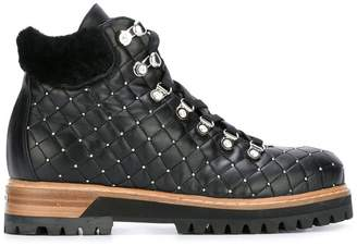 Le Silla quilted lace-up ankle boots
