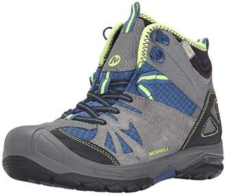 9a0fc6023b285 Merrell Capra Mid Waterproof, Boy's Lace-Up Trekking and Hiking Boots -  Grey/