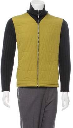 Valentino Woven Zip-Up Jacket