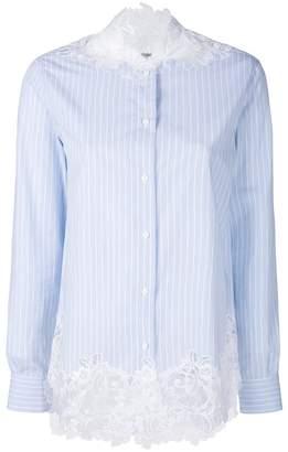 Ermanno Scervino lace detail striped shirt
