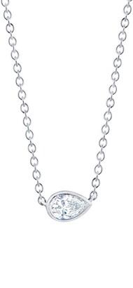 Kwiat Pear Diamond Pendant Necklace