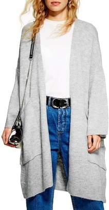Topshop Oversized Long Cardigan