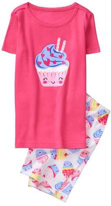 Gymboree Cupcake 2-Piece Shortie Pajamas