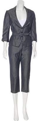 Alexander McQueen Linen-Blend Pant Suit