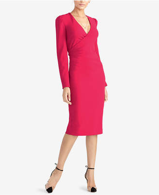 Rachel Roy Surplice-Neck Long-Sleeve Sheath Dress