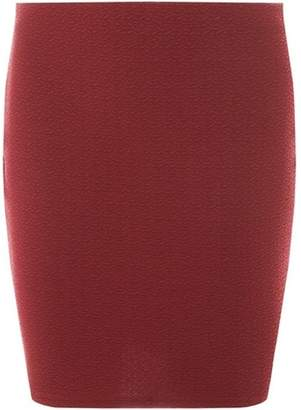 Dorothy Perkins Womens Wine Textured Mini Skirt