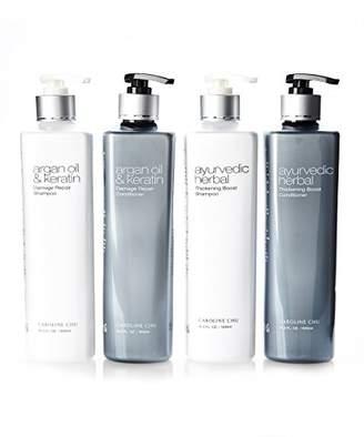 Caroline Chu Ayurvedic Herbal Thickening Boost Damage Repair Shampoo and Conditioner