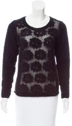 Sonia Rykiel Jacquard Open Knit Sweater
