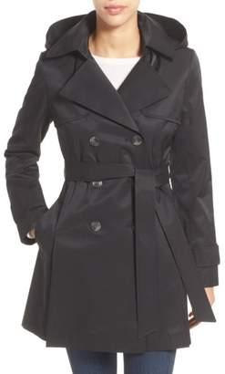 Halogen Detachable Hood Trench Coat