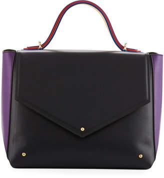 Sara Battaglia Colorblock Leather School Bag