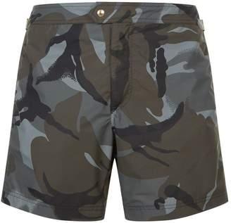 Tom Ford Camo Print Swim Shorts