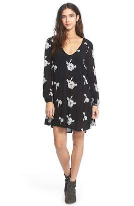 Urban Outfitters Emma Embroidered Swing Dress
