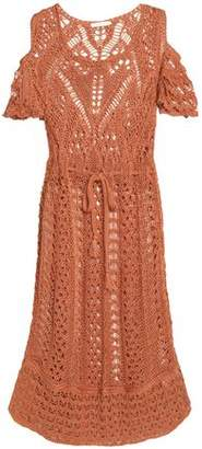 See by Chloe Cold-Shoulder Crocheted Cotton Dress