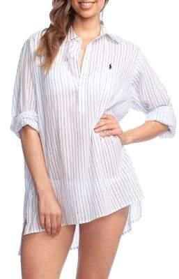 ffe42cdc28c59 Polo Ralph Lauren Striped Boyfriend Shirt Cover-Up