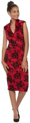Almost Famous Juniors' Floral Ponte Bodycon Dress