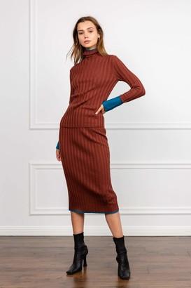 J.ING Patina Knit Midi Skirt