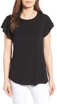 Women's Bobeau Flutter Sleeve Tee $39 thestylecure.com