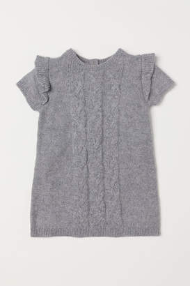 H&M Cable-knit Dress - Gray