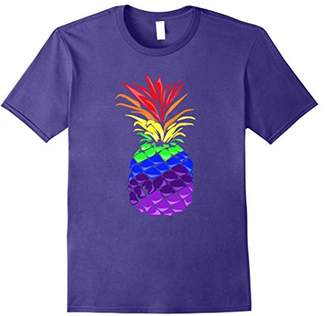 Rainbow Pineapple Print t shirt
