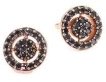 Astley Clarke The Icon Mini Aura Black Diamond& 14K Yellow Gold Stud Earrings