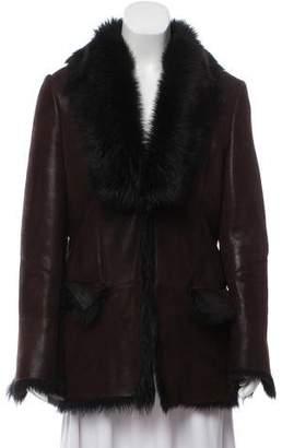 Gucci Vintage Suede Shearling Jacket