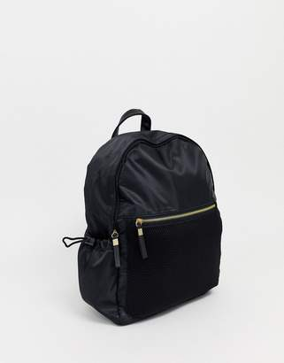 New Look nylon back pack in black