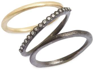 Armenta Old World Diamond Stacking Rings
