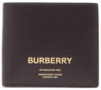 Burberry Logo Leather Wallet - Mens - Black
