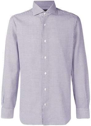 Barba geometric print shirt