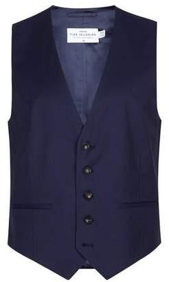 Topman Mens CHARLIE CASELY-HAYFORD X Blue Twill Skinny Wedding Suit Vest