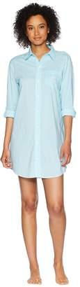 Lauren Ralph Lauren Roll Tab His Shirt Sleepshirt Women's Pajama