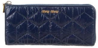 Miu MiuMiu Miu Quilted Continental Wallet