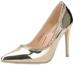 Mila Louise Lady (Celeste Embellished Sparkles Platform Point Toe Lady Heeled Shoes
