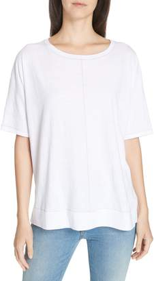 Eileen Fisher Jewel Neck Organic Cotton Tee