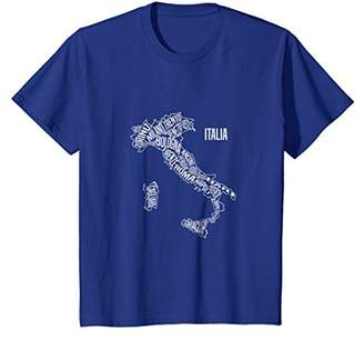 Italy map t shirt - Italian vacation souvenir clothing