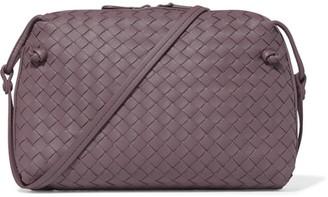 Bottega Veneta - Nodini Small Intrecciato Leather Shoulder Bag - Purple $1,580 thestylecure.com