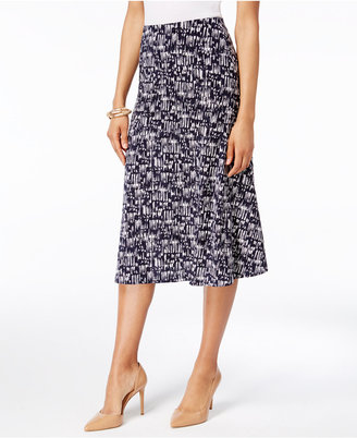 Jm Collection A-Line Jacquard Skirt, Created for Macy's $49.50 thestylecure.com