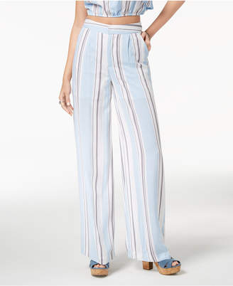 Macy's The Edit By Seventeen Juniors' Striped Wide-Leg Pants, Created for