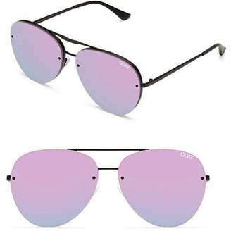 Quay Frameless 147MM Mirrored Aviator Sunglasses