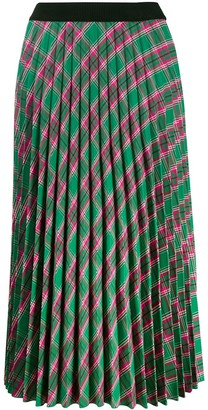 Moncler plaid pleated skirt