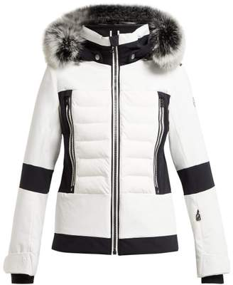 Toni Sailer - Manou Quilted Ski Jacket - Womens - White Black
