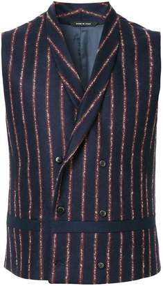Sartorial Monk striped double-breasted waistcoat