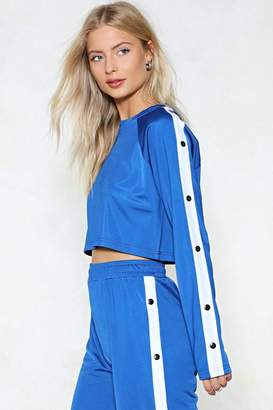 Nasty Gal Give the Game Tear-Away Cropped Sweatshirt