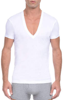 6415ed82131 White Deep Neck Mens T-shirts - ShopStyle Canada